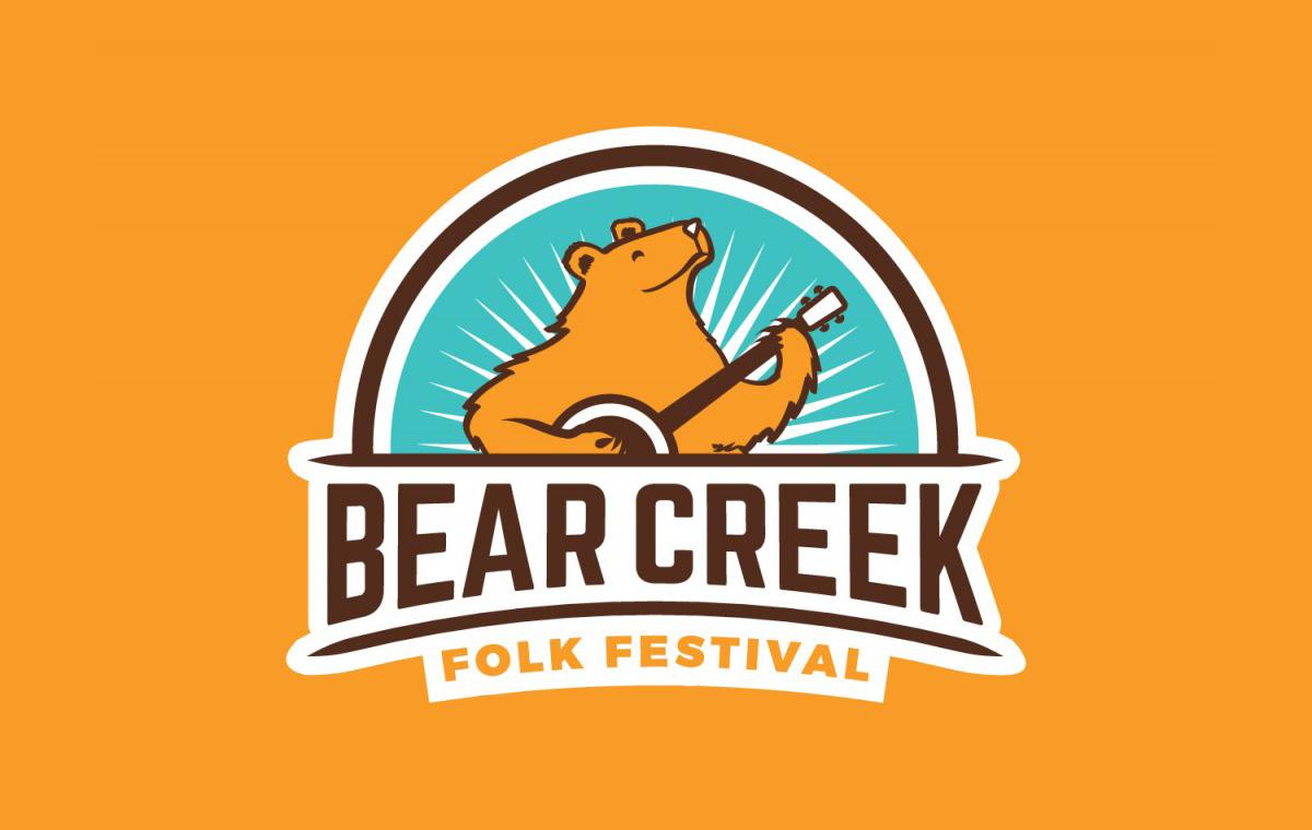 Bear Creek Folk Festival logo by Jacqueline McDonald at Rebel Bent