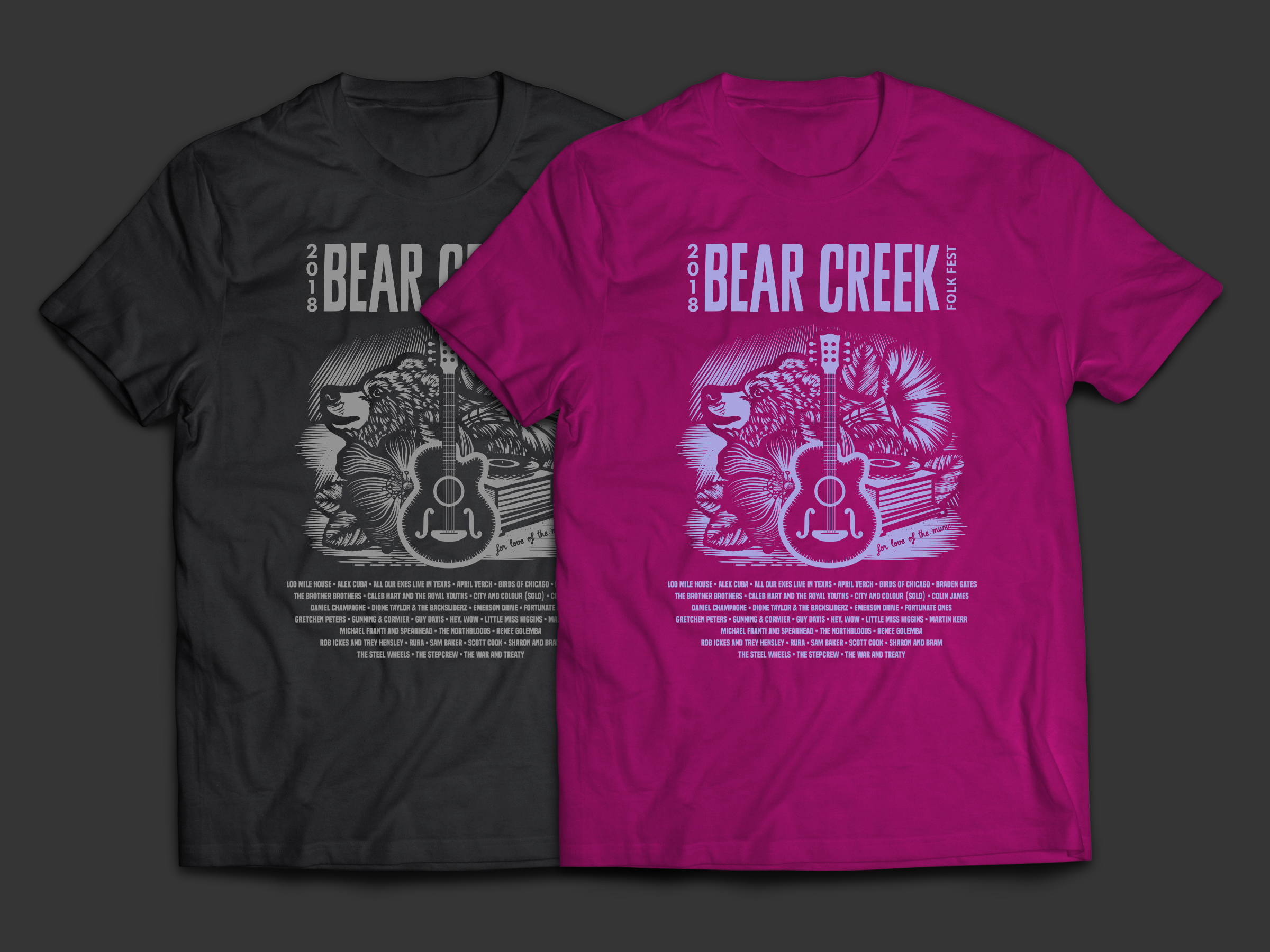 bear shirt mockup full berry 2